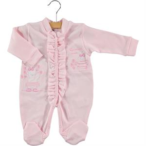 Civil Baby Oh Baby, Booty Baby Girl 0-3 Pink Frilly Jumpsuit