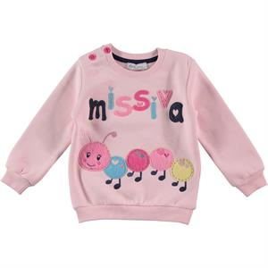 Cvl Age 2-5 Kids Girl Sweatshirt Powder Pink