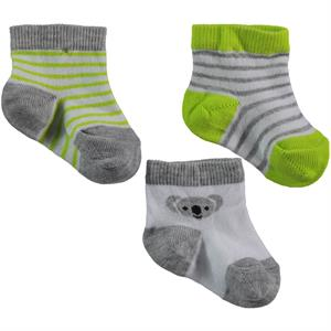Civil Baby Baby boy 3-Yesil Set of socks 0-18 Months (1)