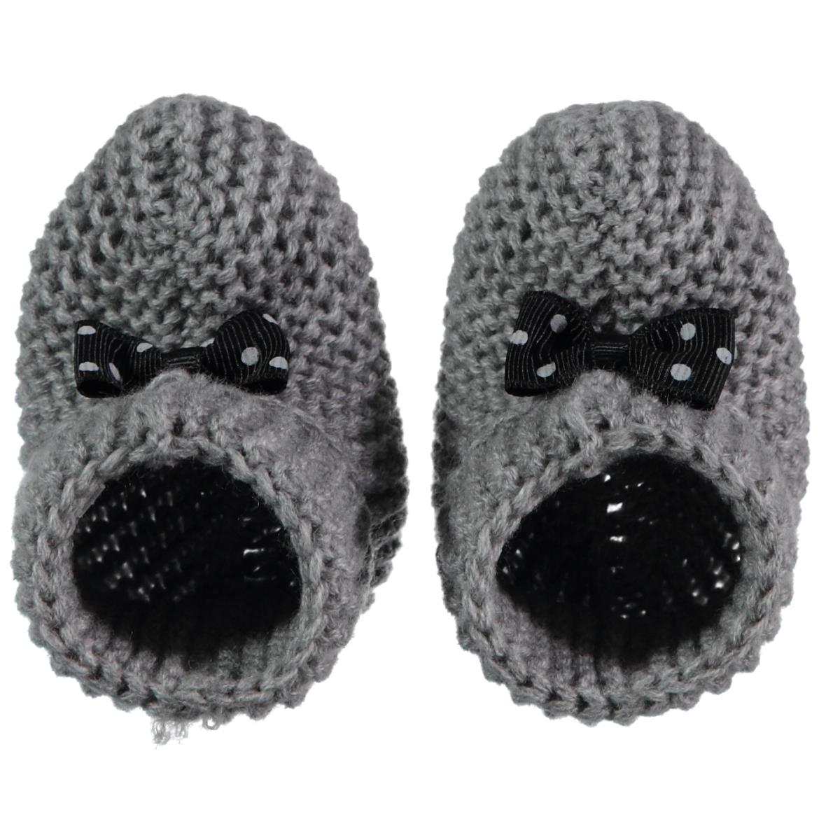 Civil Records Baby Booties 0-6 Months Gray