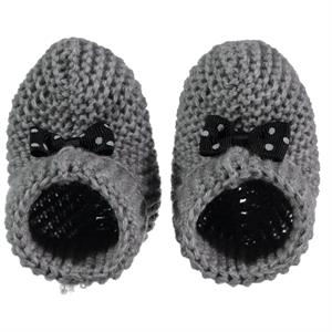 Civil Records Baby Booties 0-6 Months Gray (1)