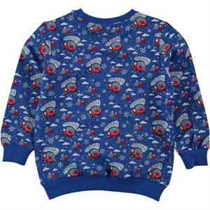 Düt Düt Boy Blue Sweatshirt Saks 2-5 Years (2)