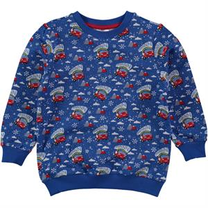 Düt Düt Boy Blue Sweatshirt Saks 2-5 Years