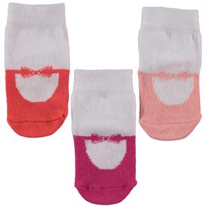 Minidamla Baby girl 3-Set of socks 0-6 months White