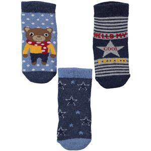 Katamino Erkek Bebek 3'lü Çorap Set 0-12 Ay Lacivert