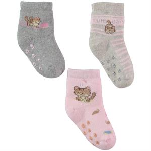 Katamino Girl baby plus 3-Set of socks 0-18 Months Pink