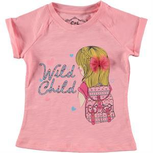 Cvl Kız Çocuk Tişört 2-5 Yaş Pudra Pembe