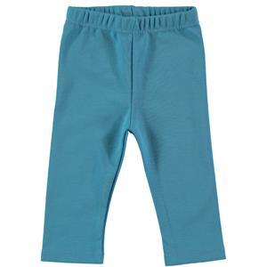 Kujju Combed Cotton Tights Baby Blue-6-18 Months
