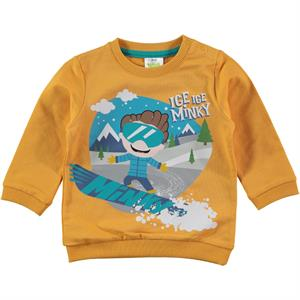 Minky Cvl Mustard Sweatshirts Boy Age 1-5