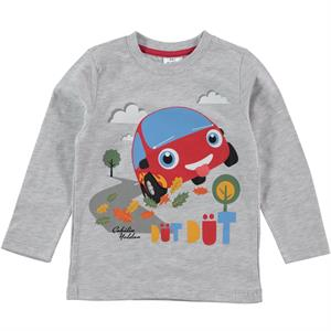 Düt Düt Boy Gray Sweatshirt 1-5 Years