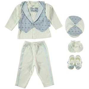 Bebbek 0-3 Months Baby Boy Blue Bow Tie With Mevlut Team