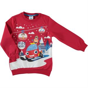 Kukuli Mulberry Mulberry Red Sweatshirt Boy 1-5 Years