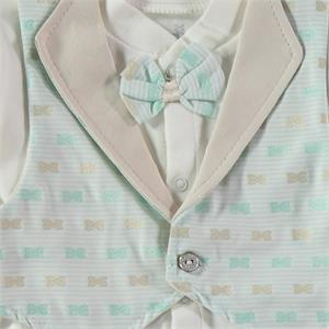 Bebbek Mevlut Team Yesil 0-3 Months Baby Boy With A Bow Tie (2)