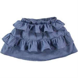 Cvl Ruffled Blue Denim Skirt Girl Age 6-9