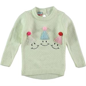 Erva Children's Ecru Knitwear Sweater Girl 1-3 Years