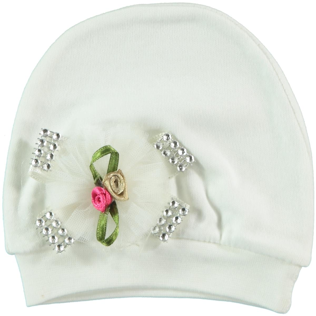 T.F.Taffy Ecru 0-3 Months Baby Girl Accessories Hat