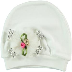 T.F.Taffy Ecru 0-3 Months Baby Girl Accessories Hat