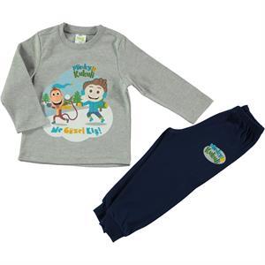 Cvl Kukuli Grey Pajama Outfit Boy Age 1-5