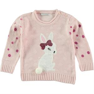 Erva Girl Pink Children's Sweater Knitwear Erceylan 1-3 Years