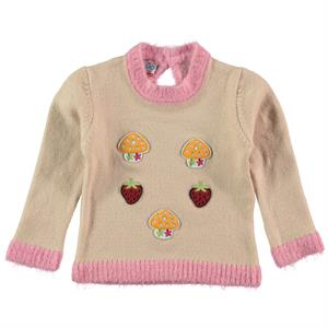Erva Children Knitwear Girl's Sweater Powder Pink 1-3 Years