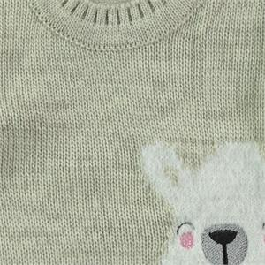 Erva Children Knitwear Girl's Sweater Beige 1-3 Years (3)