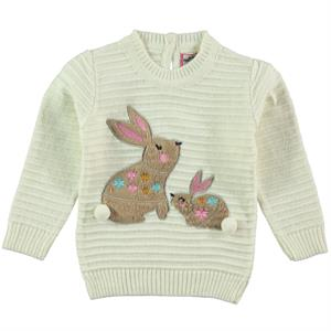Mastika 1-3 Years Girl Sweater Ecru