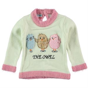 Erva Kazak1 Girl Children's Knitwear-Ecru 3 Years Of Age