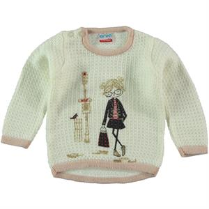 Erva Children's Ecru Knitwear Sweater Girl 1-3 Years (1)