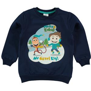 Cvl Minky Navy Blue Sweatshirts Boy Age 1-5