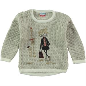 Erva Children Knitwear Girl's Sweater Beige 1-3 Years