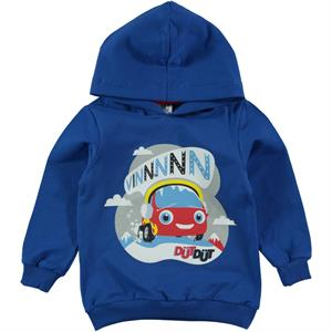 Düt Düt Boy Gray Hooded Sweatshirt 1-5 Years