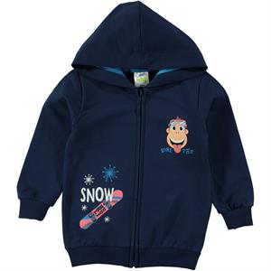 Kukuli Boy Navy Blue Hooded Cardigan Age 1-5