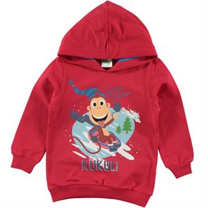 Cvl Kukuli Boy Hooded Sweatshirt In Red 1-5 Years