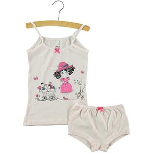 Şahin Combed Cotton Underwear Pink Ages 3-9 Team