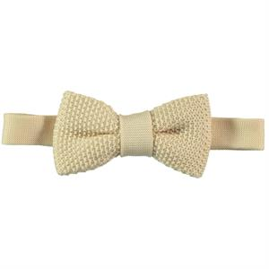 Civil Children's Knitwear Beige Bow Tie