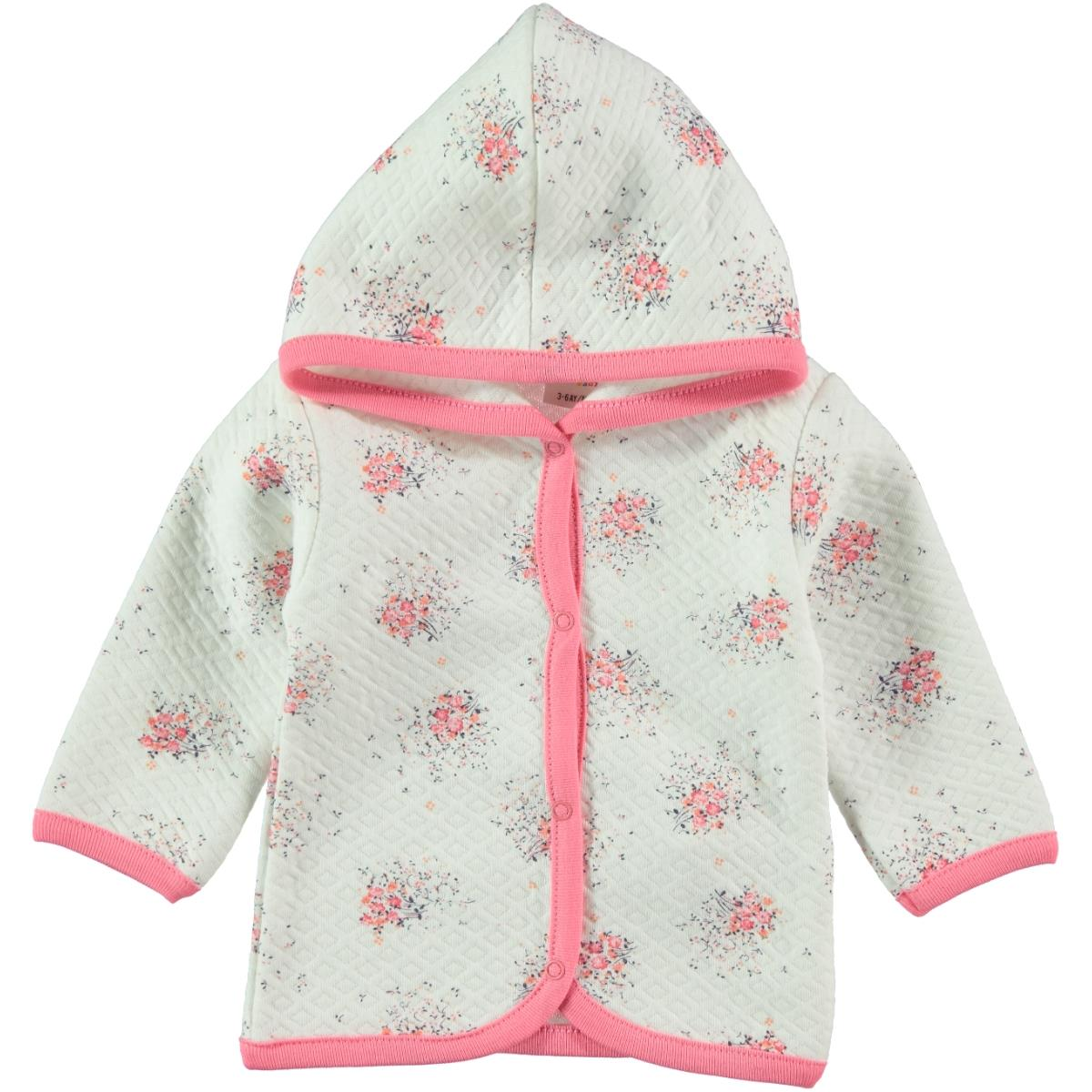 Civil Baby Powder Pink Hooded Cardigan Baby Girl 3-9 Months