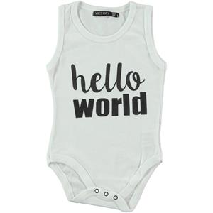 Victory Baby Boy Bodysuit With Snaps 6 Months-2 Years Old, White
