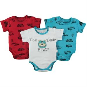 Albimini Baby boy mini drip 3-0-12 months Turquoise Bodysuit with snaps