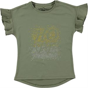Cvl Kız Çocuk Tişört 6-9 Yaş Haki