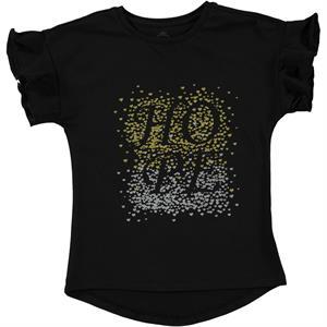 Cvl Kız Çocuk Tişört 6-9 Yaş Siyah
