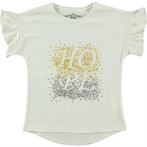 Cvl Kız Çocuk Tişört 6-9 Yaş Ekru