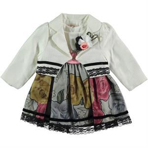 Miss Majstore Baby girls 2-6-18 months Dress Ecru
