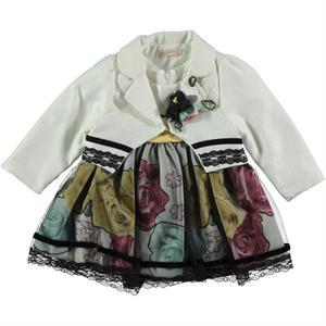 Miss Majstore Kız Bebek 2'li Elbise 6-18 Ay Ekru