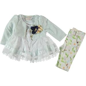 Miss Majstore Baby girl 3-Team 6-18 months mint green
