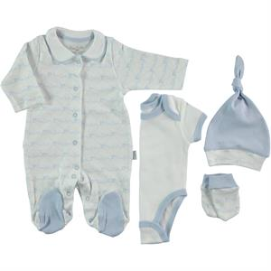 Pierre Cardin Baby Jumpsuit 4-Set-0-3 months-Blue