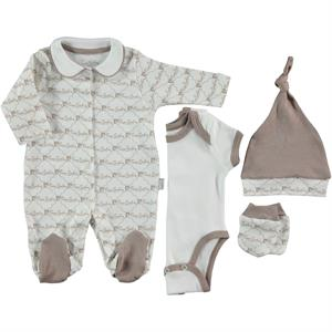 Pierre Cardin Baby Jumpsuit 4-set 0-3 months, Brown