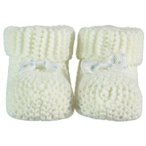 Recos 0-6 Months Baby Booties Ecru Knitwear Accessories (1)