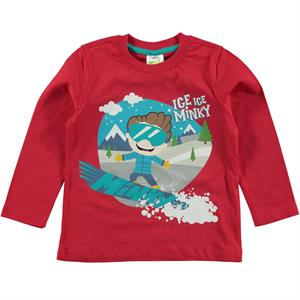 Minky Boy's Red Sweatshirt 1-5 Years