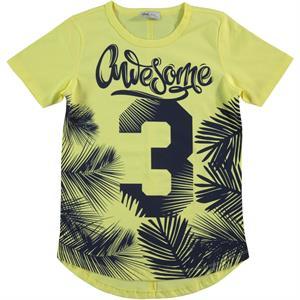 Cvl Erkek Çocuk Tişört 6-9 Yaş Sarı