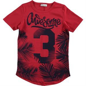 Cvl Erkek Çocuk Tişört 6-9 Yaş Kırmızı